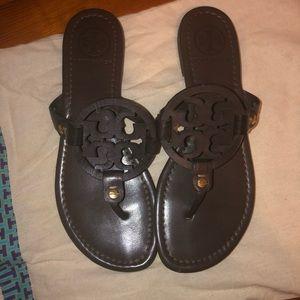 Tory Burch Miller Sandals (Brown)
